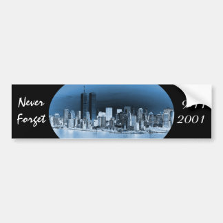 Never Forget September 11th Bumper Sticker