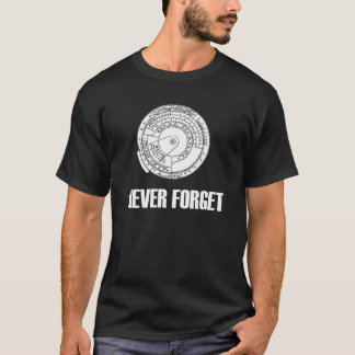 Never Forget Slide Rule Dark T-Shirt