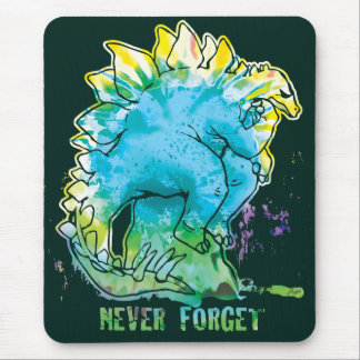 Never Forget Stegosaurus Thinker Mouse Pad