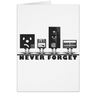 Never Forget the media Greeting Card