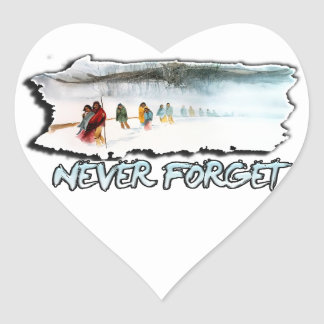 Never Forget the Trail of Tears Heart Sticker