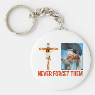 NEVER FORGET THEM BASIC ROUND BUTTON KEYCHAIN