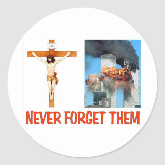NEVER FORGET THEM CLASSIC ROUND STICKER