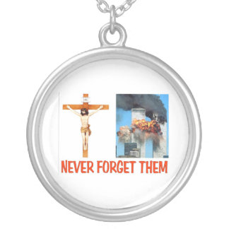 NEVER FORGET THEM SILVER PLATED NECKLACE