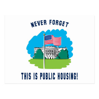 Never forget - this is public housing too! postcards