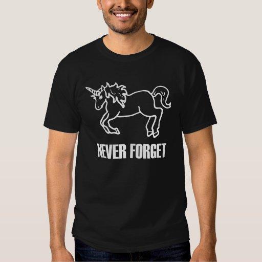 Never Forget Unicorns Dark T-Shirt