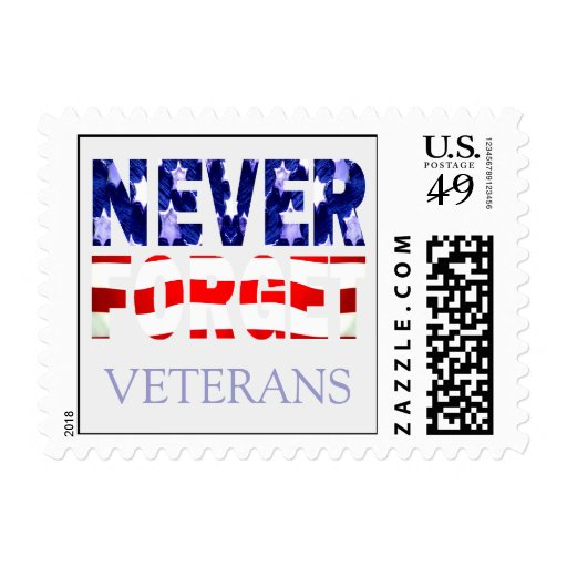 Never Forget Veterans USA Postage Stamp