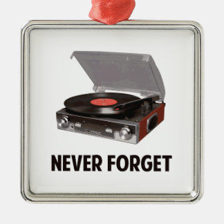 Never Forget Vinyl Record Players Christmas Ornaments