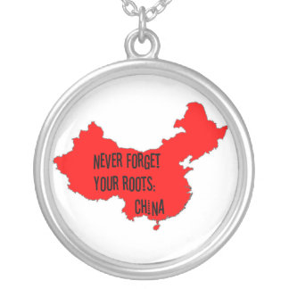 Never forget your roots: China Round Pendant Necklace