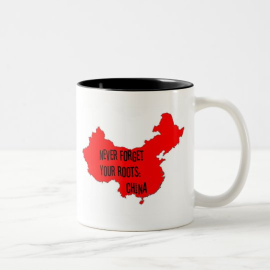 Never forget your roots: China Two-Tone Coffee Mug