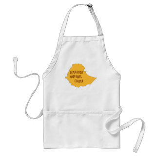 Never forget your roots: Ethiopia Adult Apron