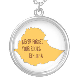 Never forget your roots: Ethiopia Round Pendant Necklace