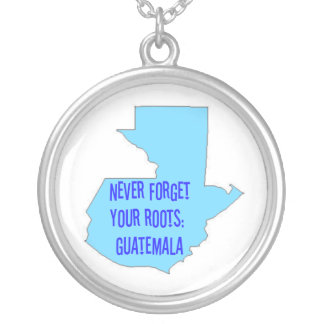 Never forget your roots: Guatemala Round Pendant Necklace