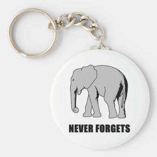Never Forgets Basic Round Button Keychain