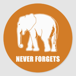 Never Forgets Classic Round Sticker