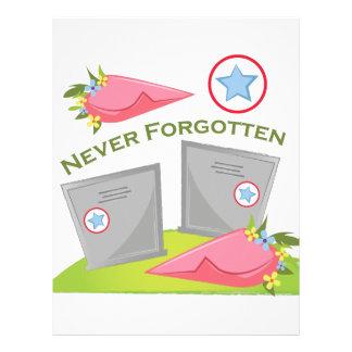 Never Forgotten Letterhead