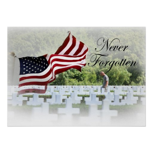 Never Forgotten - Memorial Day Posters