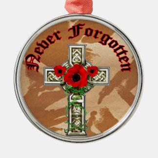Never Forgotten Metal Ornament