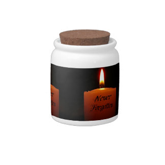 Never Forgotten Remembrance Candle Flame Candy Jar