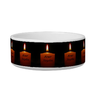 Never Forgotten Remembrance Candle Flame Cat Bowl