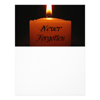 Never Forgotten Remembrance Candle Flame Letterhead