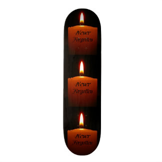 Never Forgotten Remembrance Candle Flame Skateboard Deck