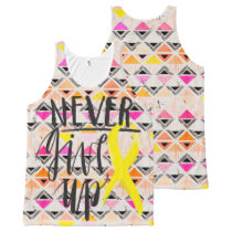 NEVER GIVE UP All-Over Print Tank