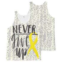 NEVER GIVE UP All-Over Printed Unisex Tank