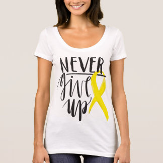 NEVER GIVE UP American Apparel Poly-Cotton T-Shirt