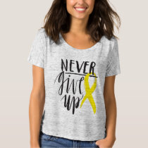 NEVER GIVE UP Bella Canvas Boyfriend T-Shirt
