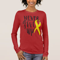 NEVER GIVE UP Bella Canvas Long Sleeve Long Sleeve T-Shirt