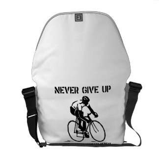 Never Give Up Biker Courier Bags