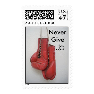Never Give Up Boxing Gloves Book of Stamps