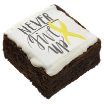 NEVER GIVE UP Brownies