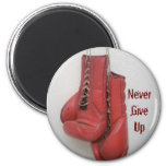 Never Give Up Button Fridge Magnet