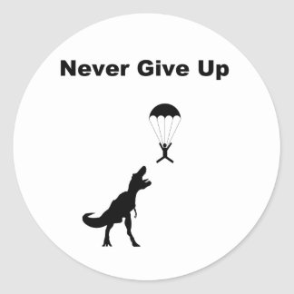 Never Give Up Classic Round Sticker