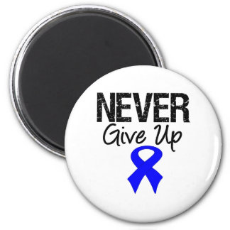 Never Give Up (Colon Cancer) 2 Inch Round Magnet