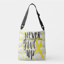 NEVER GIVE UP Cross Body Bag