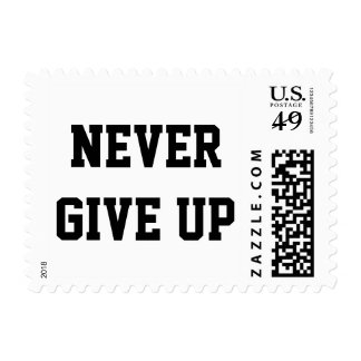 """""""Never give up"""" custom stamp"""