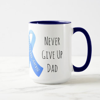 Never Give Up Dad Personalized Coffee Mug