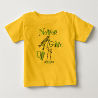 Never Give Up Frog Choking Heron T-shirts