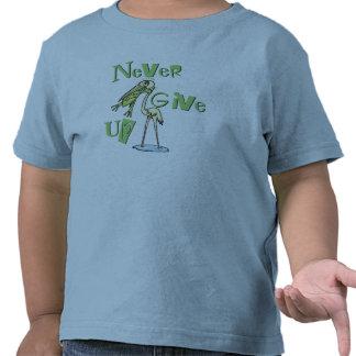 Never Give Up Frog Choking Heron Tshirt