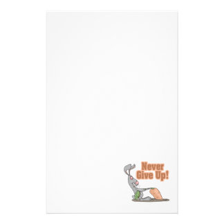 never give up funny bunny yanking carrot stationery