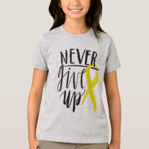 NEVER GIVE UP Girls' American Apparel Fine Jersey T-Shirt