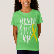 NEVER GIVE UP Girls' Fine Jersey T-Shirt