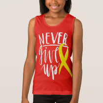 NEVER GIVE UP Girls' Fine Jersey Tank Top