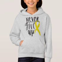 NEVER GIVE UP Girls' Hanes Hoodie