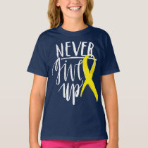 NEVER GIVE UP Girls' Hanes TAGLESS® T-Shirt