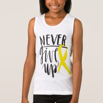 NEVER GIVE UP Girls' Jersey Tank Top
