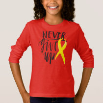 NEVER GIVE UP Girls' Long Sleeve T-Shirt